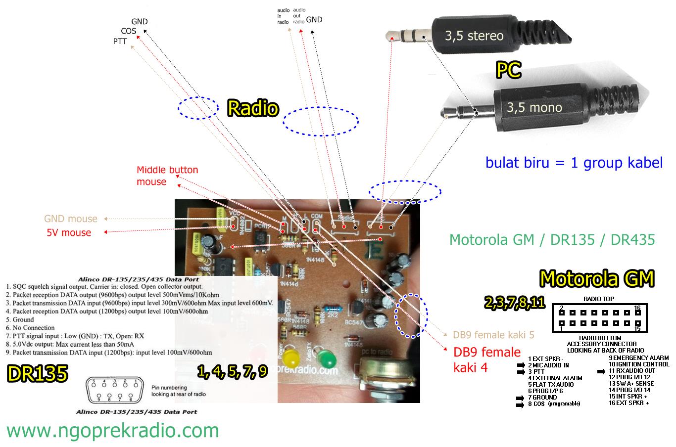 wiring Motorola GM - DR135